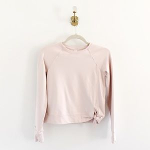 Athleta Girl Possibilities Pink Tie Knot Pullover